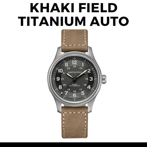 Hamilton Field Titanium Auto Watch
