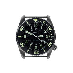 MWC Depthmaster 1000m Quartz Divers Watch in Stainless Steel with Helium Valve 12/24