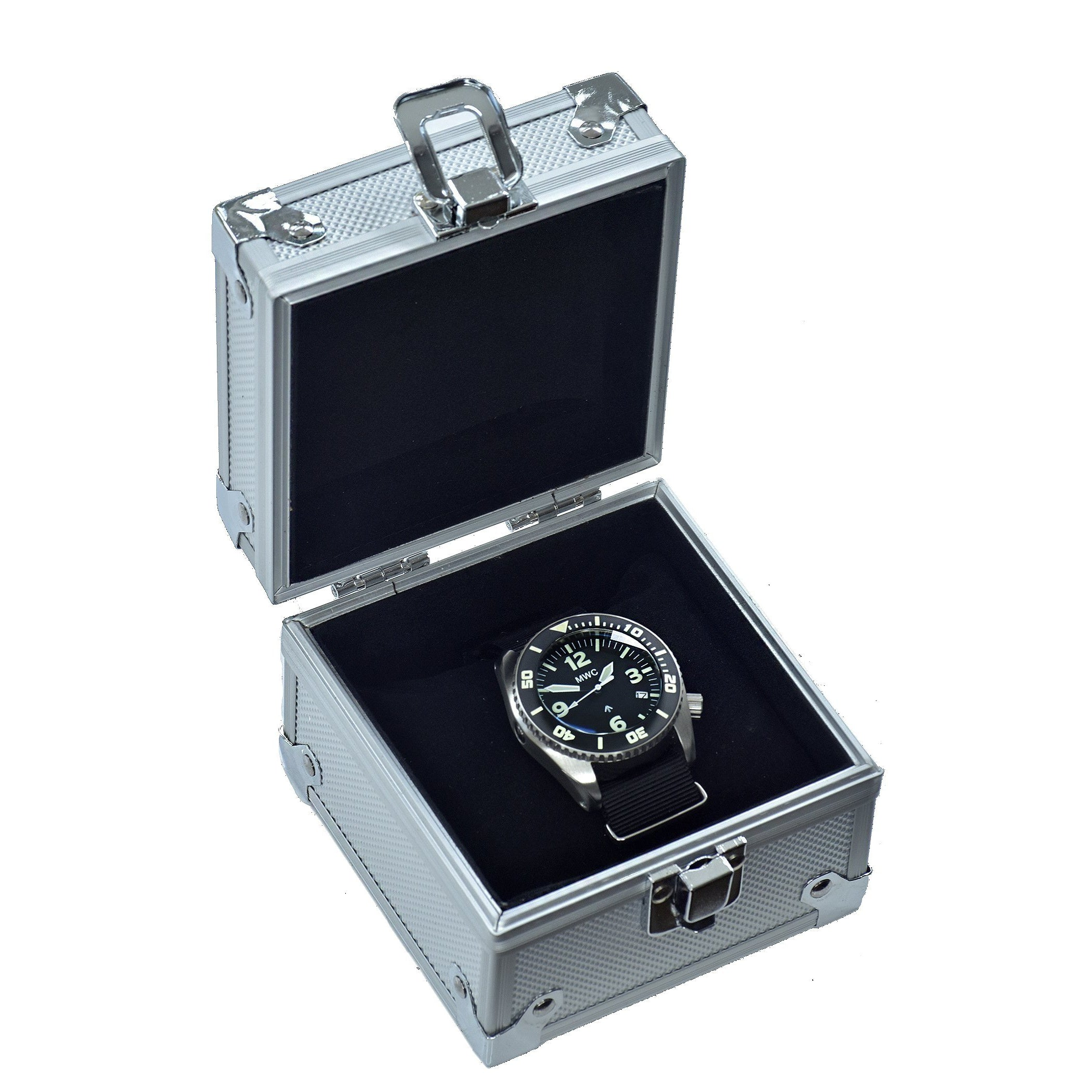 MWC Depthmaster 1000m Quartz Divers Watch in Stainless Steel with Helium Valve