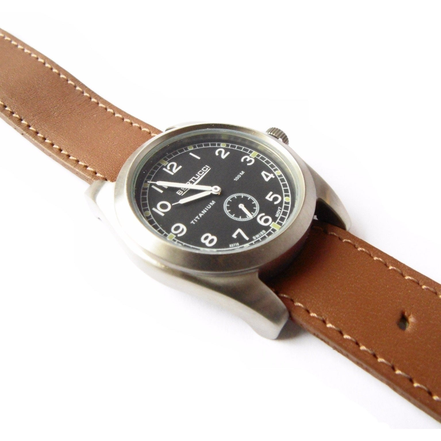 Bertucci 13301 A-3T 42 Vintage Watch (Leather Strap) - Watchfinder General - UK suppliers of Russian Vostok Parnis Watches MWC G10  - 2