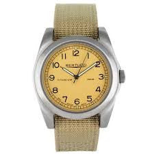 Bertucci A-3T Vintage 42 Titanium Watch (Khaki Nylon Strap) 13306 - Watchfinder General - UK suppliers of Russian Vostok Parnis Watches MWC G10  - 2