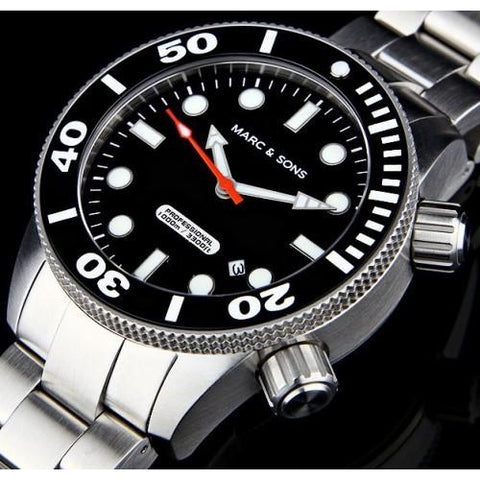 MARC & SONS 1000M Professional automatic Diver watch MSD-020 - Watchfinder General - UK suppliers of Russian Vostok Parnis Watches MWC G10  - 2