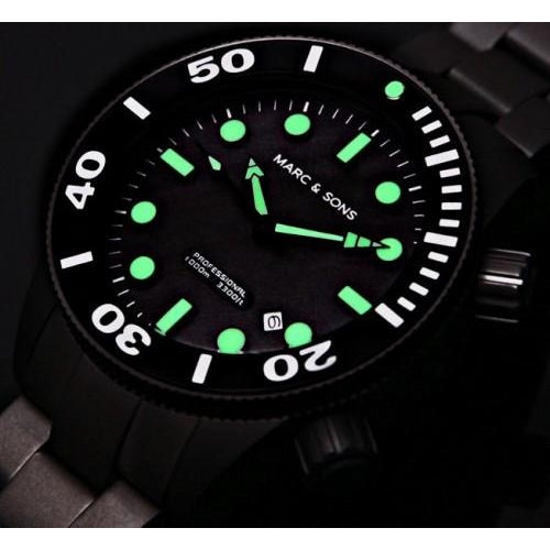 MARC & SONS 1000M Professional automatic Diver watch MSD-022 - Watchfinder General - UK suppliers of Russian Vostok Parnis Watches MWC G10  - 3