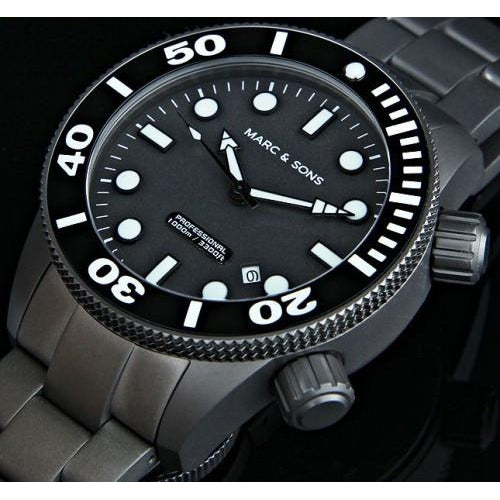 MARC & SONS 1000M Professional automatic Diver watch MSD-022 - Watchfinder General - UK suppliers of Russian Vostok Parnis Watches MWC G10  - 2