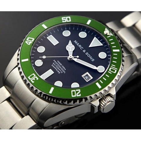 MARC & SONS Professional automatic Diver watch MSD-024 - Watchfinder General - UK suppliers of Russian Vostok Parnis Watches MWC G10  - 2