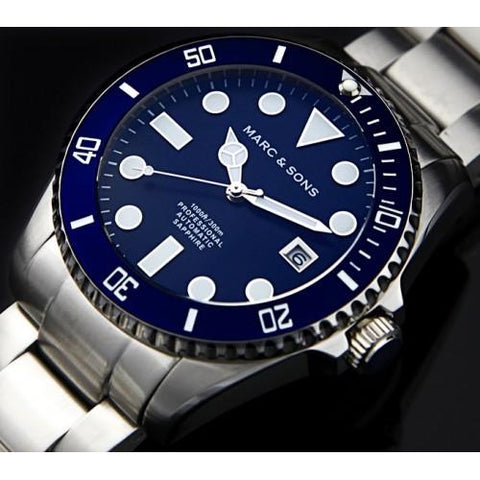 MARC & SONS Professional automatic Diver watch MSD-025 - Watchfinder General - UK suppliers of Russian Vostok Parnis Watches MWC G10  - 2
