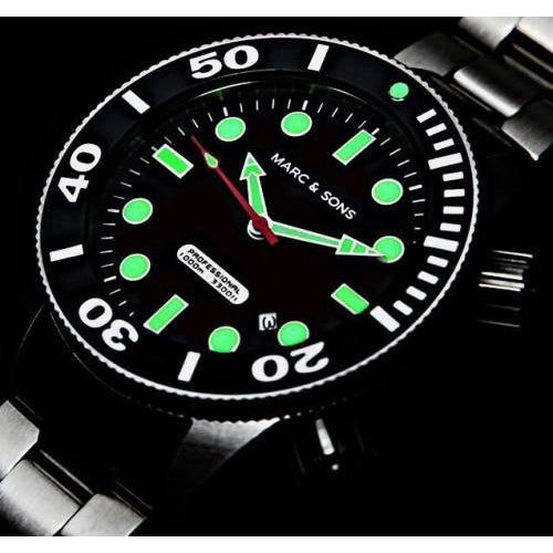 MARC & SONS 1000M Professional Automatic Divers Watch MSD-043 - Watchfinder General - UK suppliers of Russian Vostok Parnis Watches MWC G10  - 3