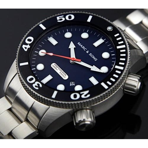 MARC & SONS 1000M Professional Automatic Divers Watch MSD-043 - Watchfinder General - UK suppliers of Russian Vostok Parnis Watches MWC G10  - 2