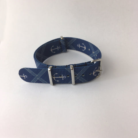 Blue Anchor Nato Strap