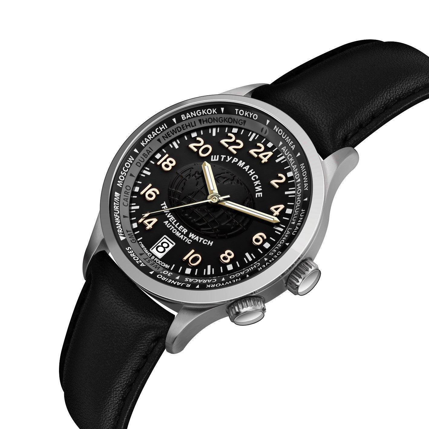 Sturmanskie Automatic Travellers Watch 2431/2255289 - Watchfinder General - UK suppliers of Russian Vostok Parnis Watches MWC G10  - 2