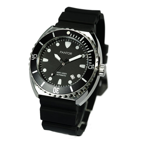 Pantor Sea Turtle Automatic Divers Watch Black 500M