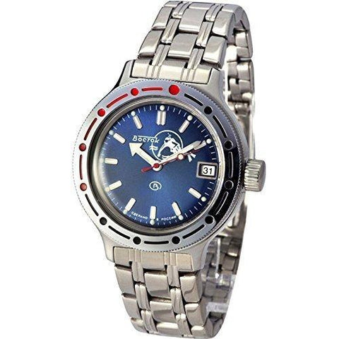 Vostok Amphibia Blue Scuba Dude Automatic Divers Watch - 420059