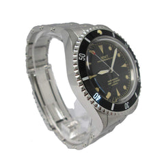 Walter Mitt Royal Marine Automatic Diver Watch Black with Bracelet - BL-BLB-R