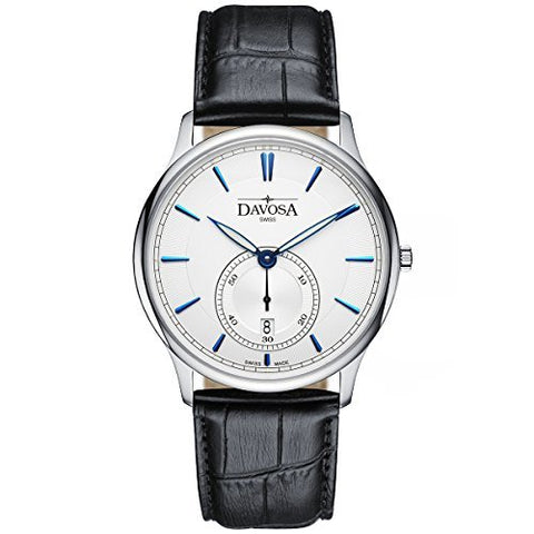 Davosa Flatline White Dress Watch with Leather Strap - 16248315