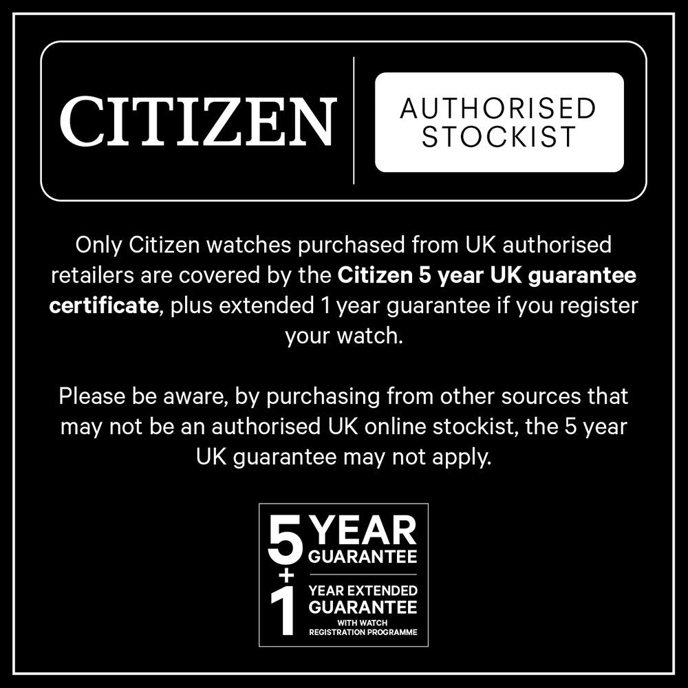 Citizen Solar Powered Watch with Textile Strap - BU2055-08X