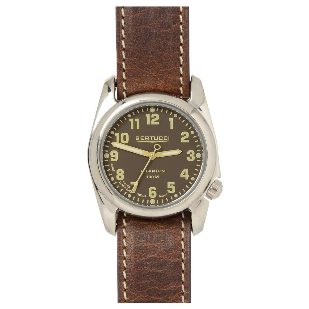 Bertucci A-2T Highpolish Brown Titanium Watch (Brown Strap) 12073
