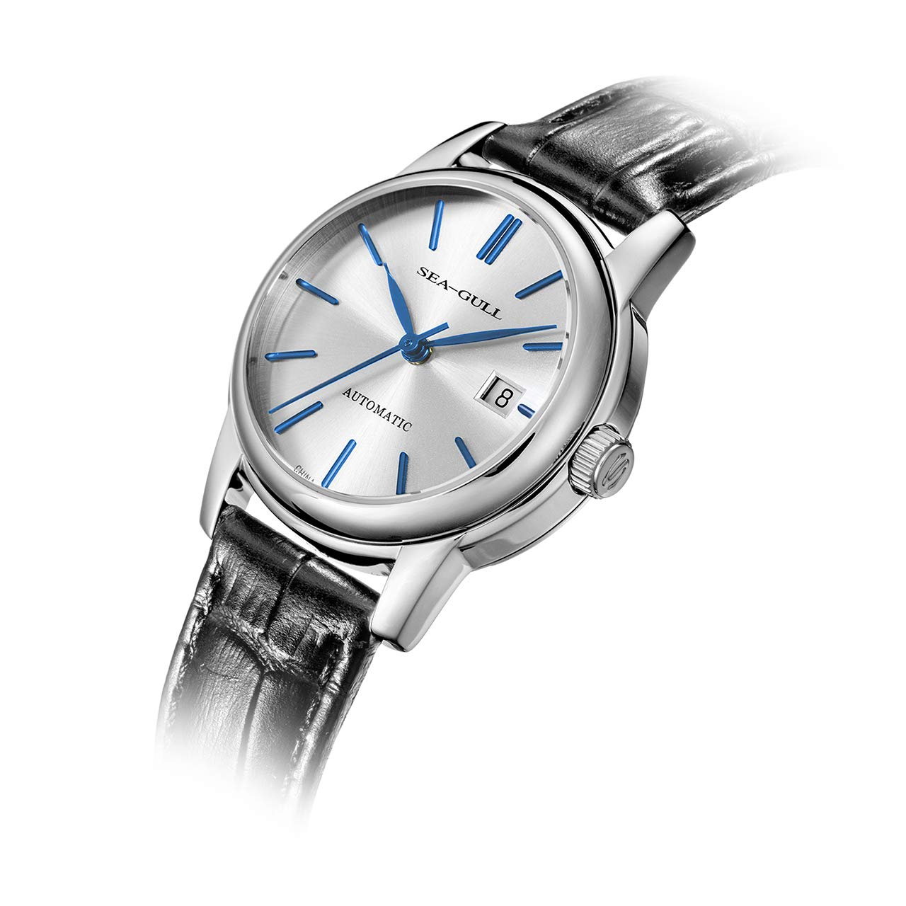 Sea-Gull Automatic Dress Watch with Blue Hands - D819.616