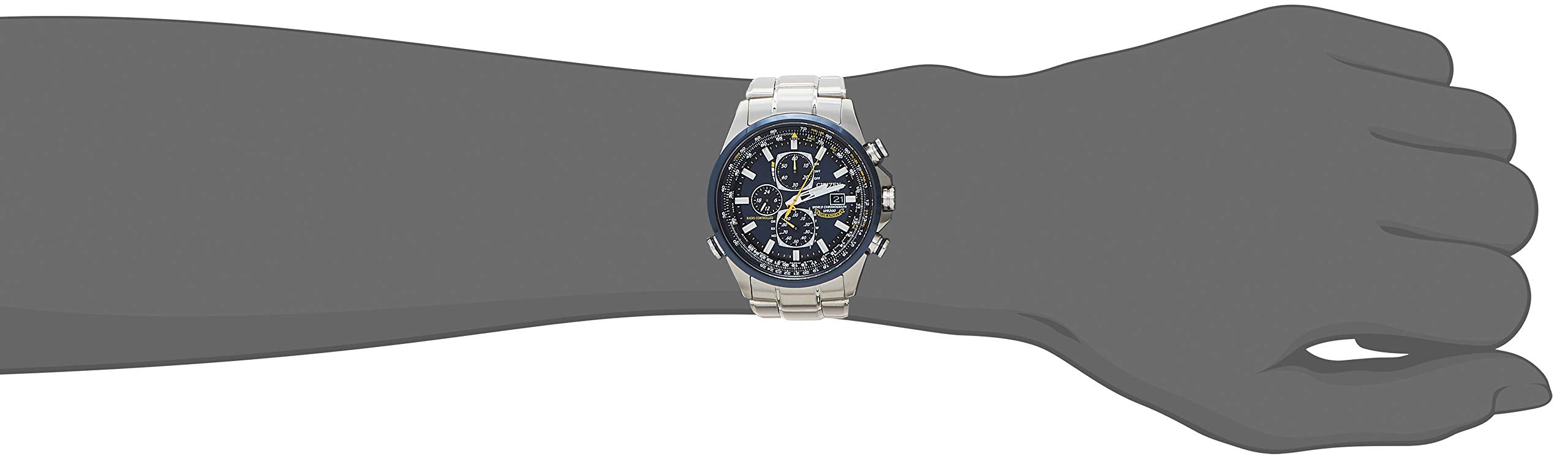 Citizen Blue Angels Stainless Steel Eco-Drive Dress Watch - AT8020-54L