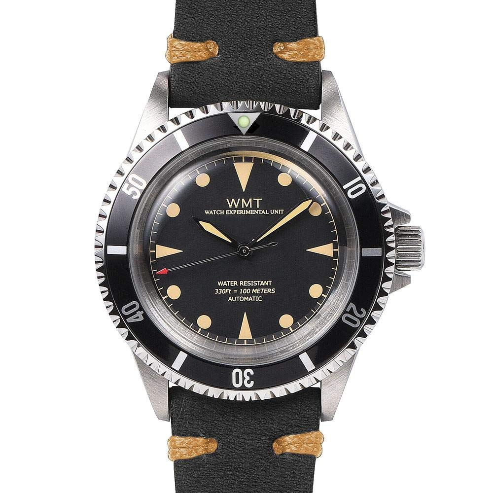 Walter Mitt Royal Marine Automatic Diver Watch Black with Black Strap