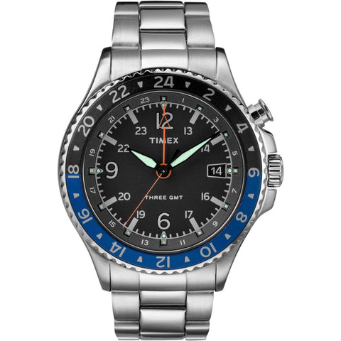 Timex Allied Three GMT Quartz Watch - TW2R43500D7PF