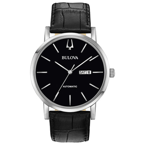 Bulova Classic Automatic Black Dial Watch - 96C131