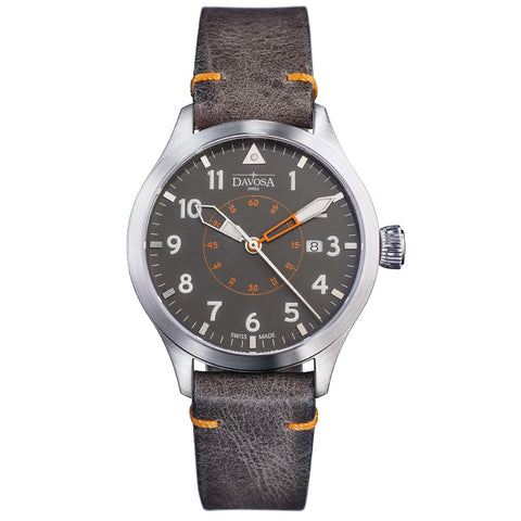 Davosa Neoteric Pilots Watch with Brown Leather Strap - 16156596