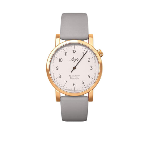 Luch Handwinding One-Handed Watch, Gold Plated - 015236757