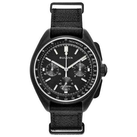 Bulova Black Special Edition Lunar Pilot Chronograph Watch 98A186