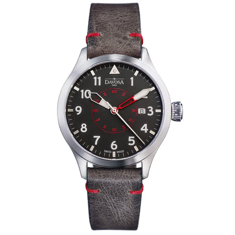 Davosa Neoteric Pilots Watch with Brown Leather Strap - 16156556