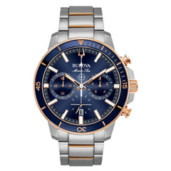 Bulova Marine Star Stainless Steel Chronograph Watch on Bracelet - 98B301