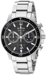 Bulova Marine Star Stainless Steel Chronograph Watch on Bracelet - 96B272
