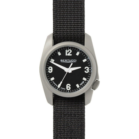 Bertucci 10300 A-1T Titanuim Field Watch (Black Strap)