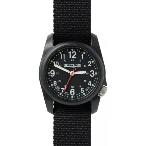 Bertucci DX3 Black Resin Watch, Black Nylon Strap, Black Dial - 11015