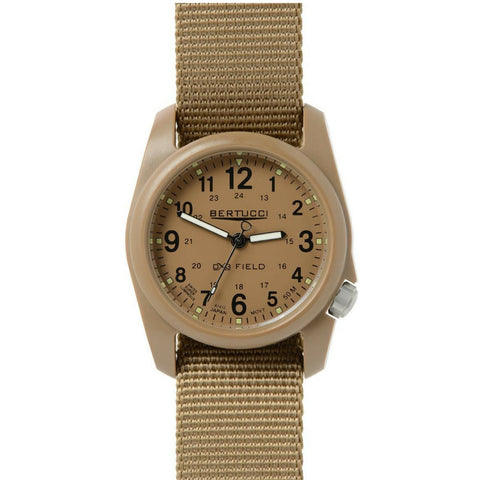 Bertucci DX3 Field Khaki Resin Watch, Coyote Nylon Strap, khaki Dial - 11021