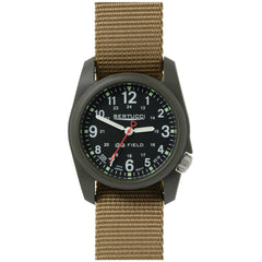 Bertucci DX3 Olive Resin Watch, Coyote Nylon Strap, Black Dial - 11027