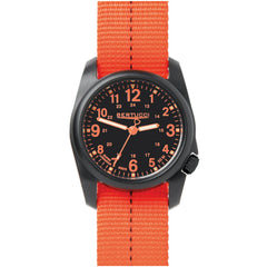 Bertucci DX3 Plus Field Resin Watch (Dash-Striped Orange Nylon Strap) 11042