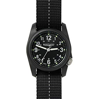 Bertucci DX3 Plus Black Field Resin Watch Dash-Striped Black Nylon Strap 11043