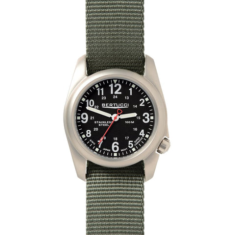 Bertucci  A-2S Field Watch Black Dial Defender Drab Strap 11051