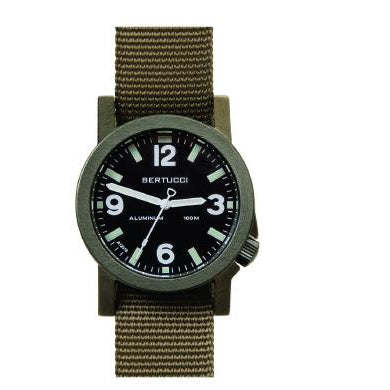 Bertucci A6-A Experior Olive Anodized Aluminium Watch With Nylon Strap 16504