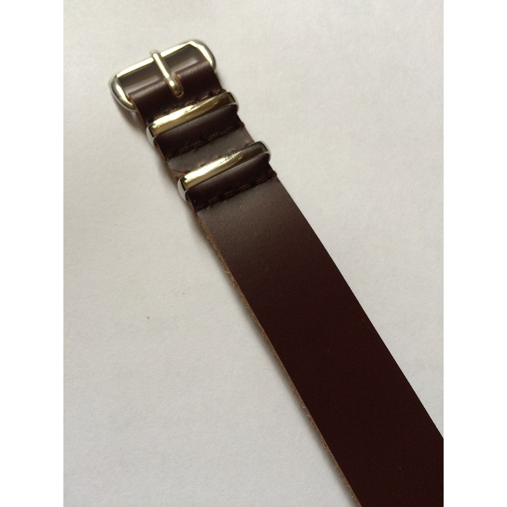Brown Leather Nato Strap - Watchfinder General - UK suppliers of Russian Vostok Parnis Watches MWC G10  - 2