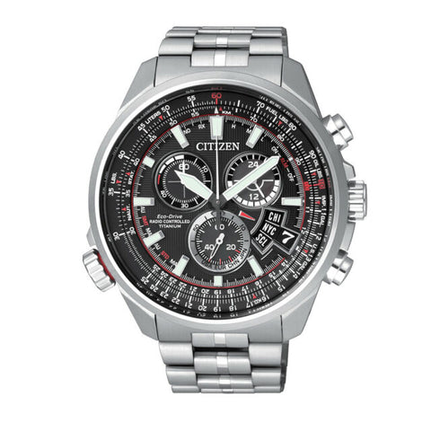 Citizen Chrono-Time A-T Titanium Alarm Chronograph Eco-Drive Watch - BY0120-54E