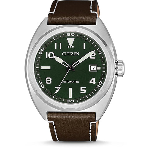 Citizen Automatic Watch with Leather Strap - NJ0100-38X