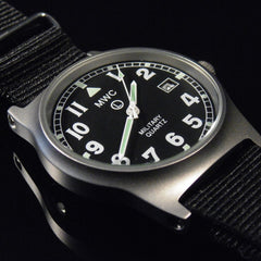 MWC G10 LM Military Watch (Black Strap) - Watchfinder General - UK suppliers of Russian Vostok Parnis Watches MWC G10  - 2