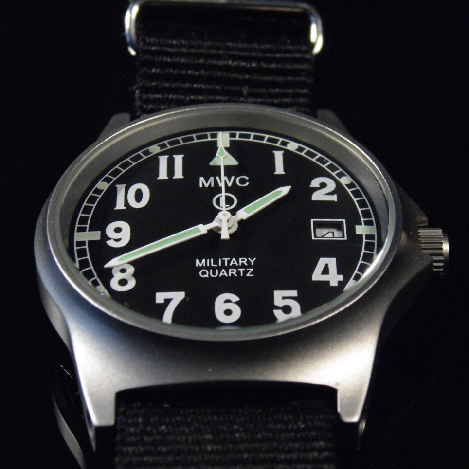 MWC G10 LM Military Watch (Black Strap) - Watchfinder General - UK suppliers of Russian Vostok Parnis Watches MWC G10  - 4
