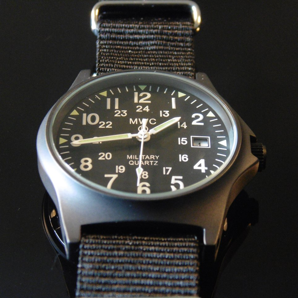 MWC G10 LM Military Watch PVD 12/24 Dial - Watchfinder General - UK suppliers of Russian Vostok Parnis Watches MWC G10  - 3