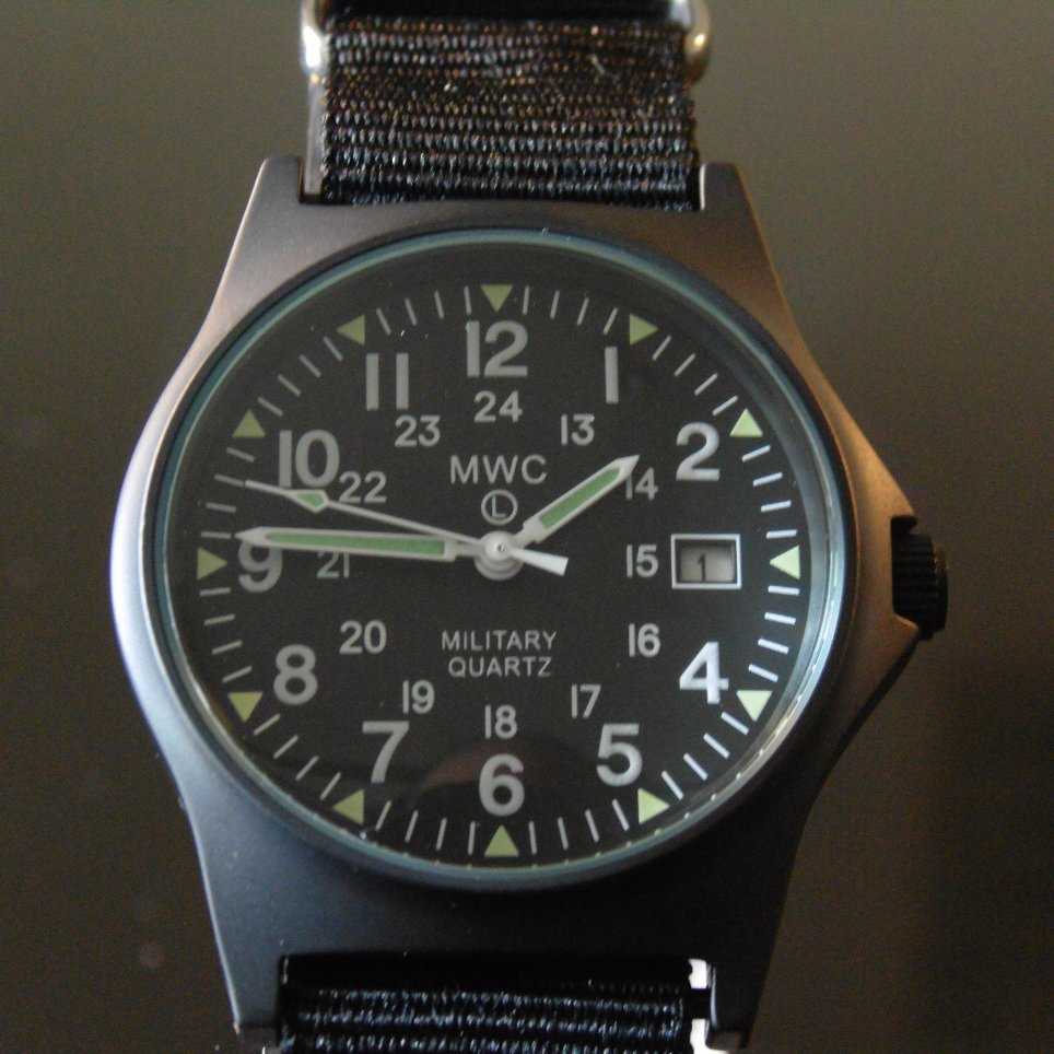 MWC G10 LM Military Watch PVD 12/24 Dial - Watchfinder General - UK suppliers of Russian Vostok Parnis Watches MWC G10  - 5