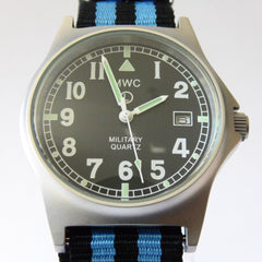 MWC G10 LM Military Watch (Black and Blue Nato Strap) - Watchfinder General - UK suppliers of Russian Vostok Parnis Watches MWC G10  - 1