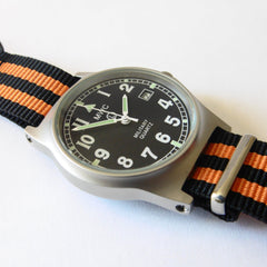 MWC G10 LM Military Watch (Black and Orange Nato Strap) - Watchfinder General - UK suppliers of Russian Vostok Parnis Watches MWC G10  - 2