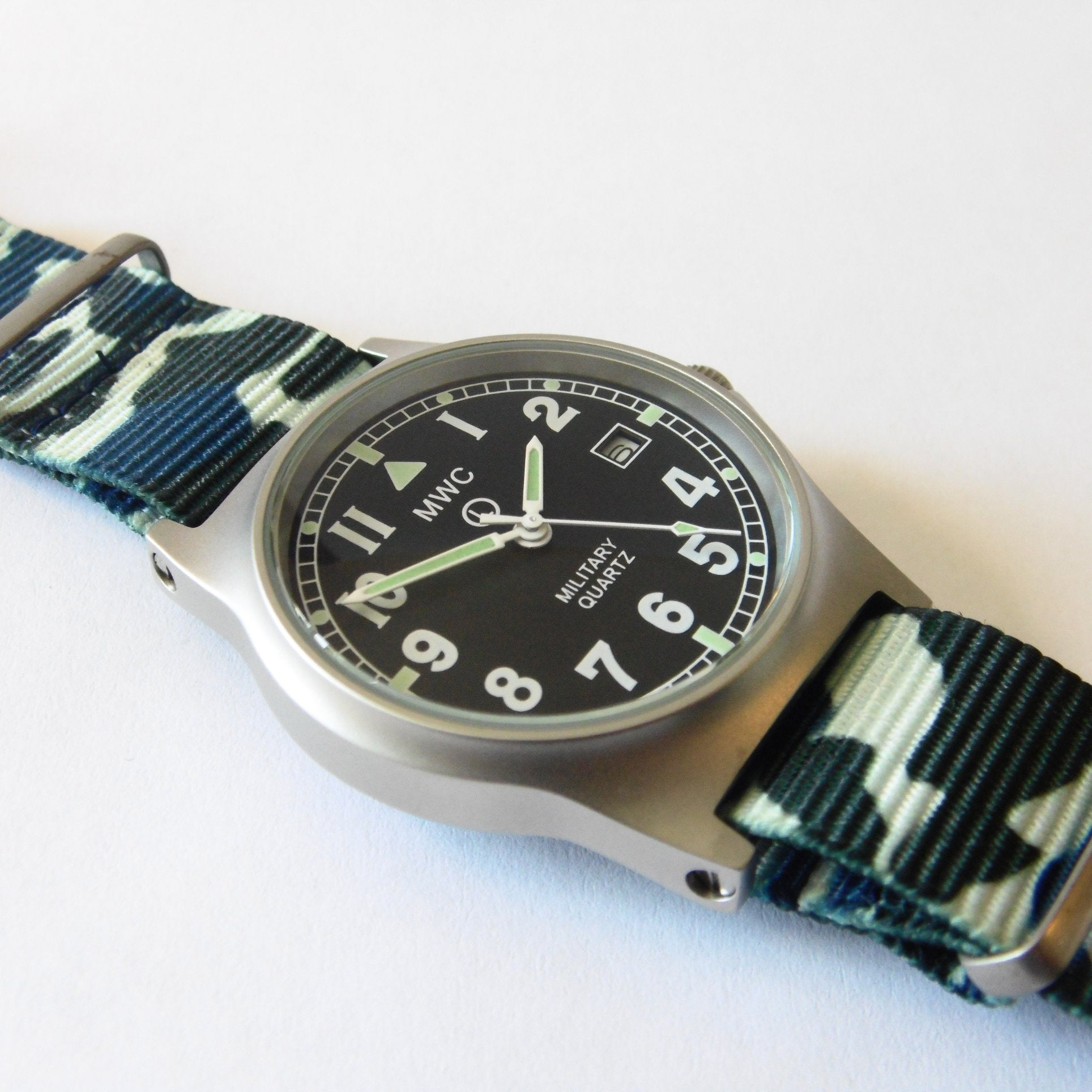 MWC G10 LM Military Watch (Camouflage Nato Strap) - Watchfinder General - UK suppliers of Russian Vostok Parnis Watches MWC G10  - 2