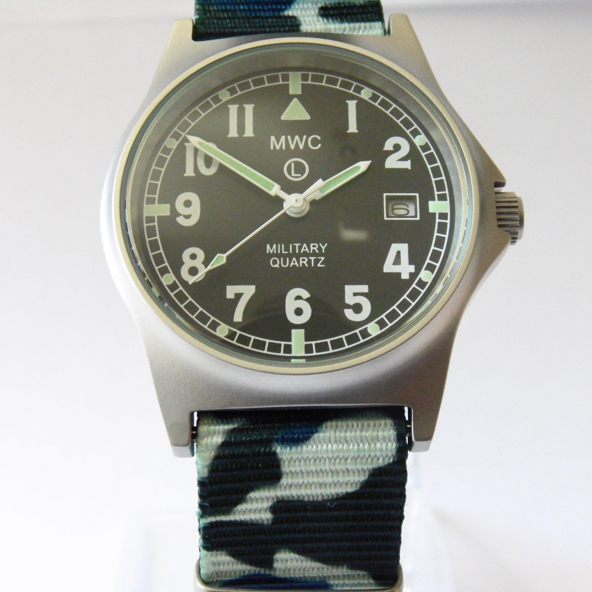 MWC G10 LM Military Watch (Camouflage Nato Strap) - Watchfinder General - UK suppliers of Russian Vostok Parnis Watches MWC G10  - 1